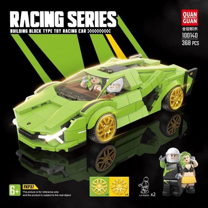 Technic QUANGUAN 100140 Green Racing Car