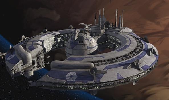 Star Wars MOC-42518 Lucrehulk-Class Battleship (Droid Control Ship) By Woxtrot MOCBRICKLAND