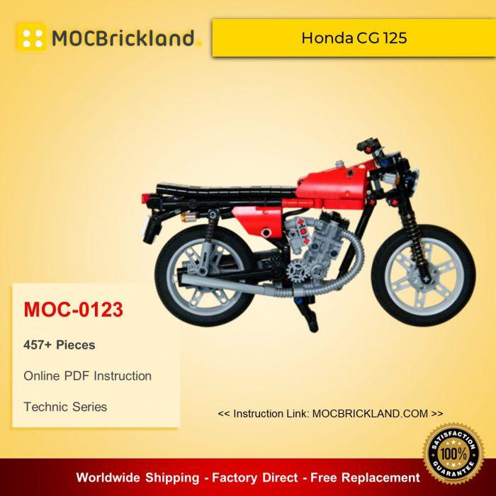 Technic MOC-0123 Honda CG 125 By Nico71 MOCBRICKLAND