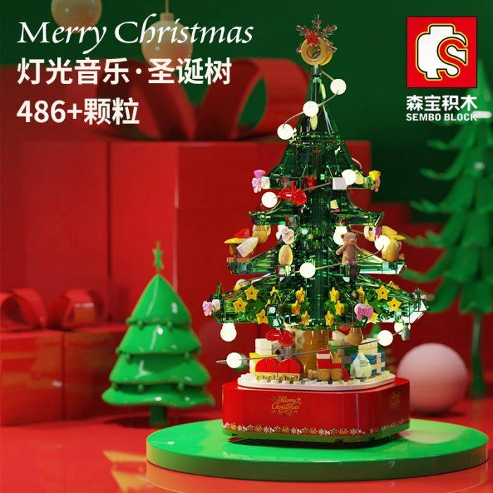 Creator SEMBO 601097 Chrismas Tree Music Box with Lights