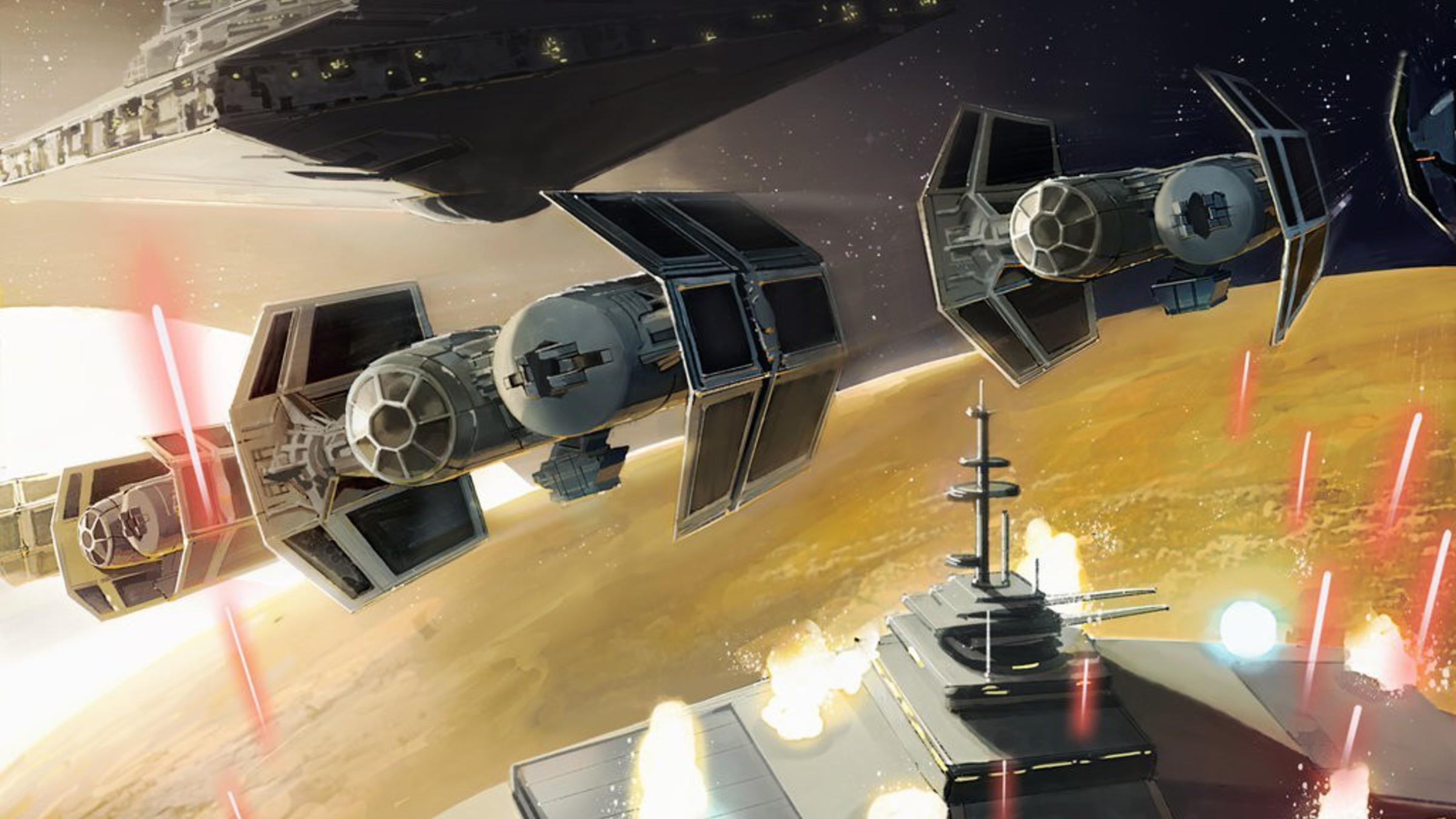 Star wars destroyers tie bomber artwork futuristic wallpaper ...