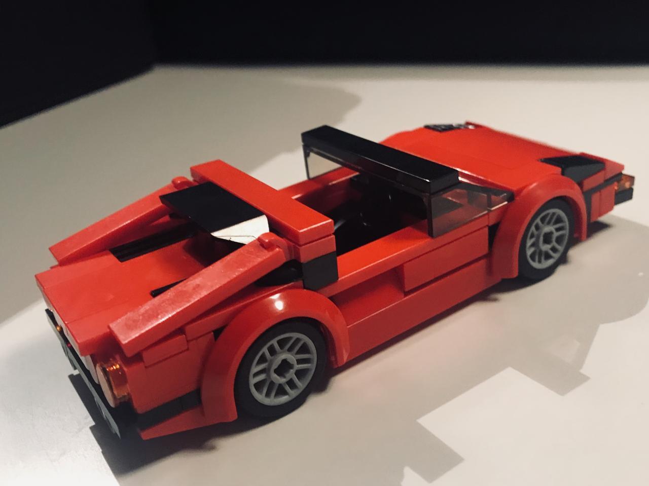TECHNIC MOC 13764 Ferrari 308 GTS From Magnum PI by Jerrybuildsbricks MOCBRICKLAND