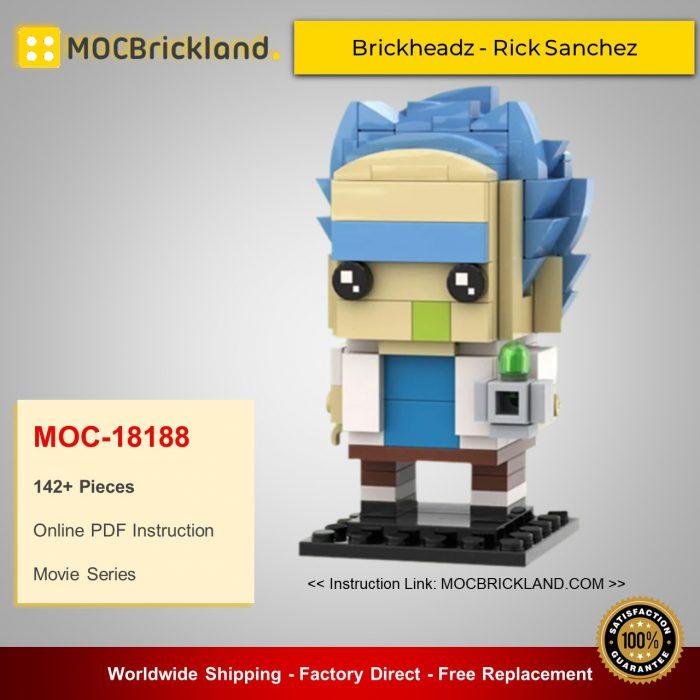 Movie MOC-18188 Brickheadz - Rick Sanchez By brick_monster MOCBRICKLAND