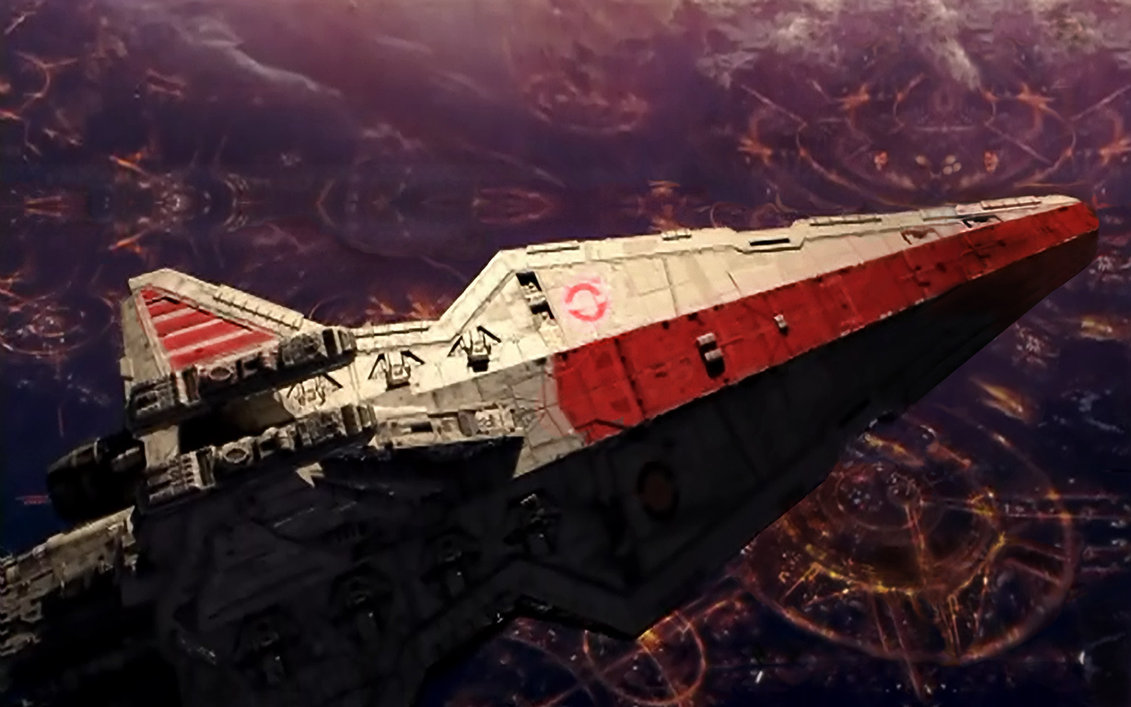 Venator-class Republic attack cruiser with interior Star Wars MOC-43186 by Bruxxy with 2565 Pieces