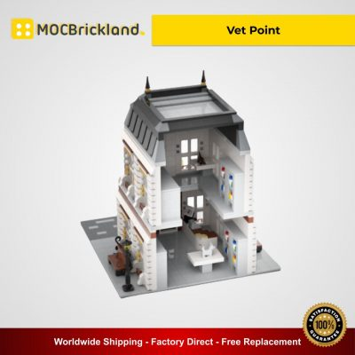 Vet Point MOC 39730 Modular Building Designed By Gabizon With 2531 Pieces