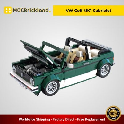 VW Golf MK1 Cabriolet MOC 26778 Creator Compatible With LEGO 10242 Designed By Buildme