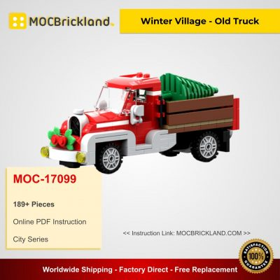Winter Village - Old Truck MOC 17099 City Designed By Brick_monster With 189 Pieces