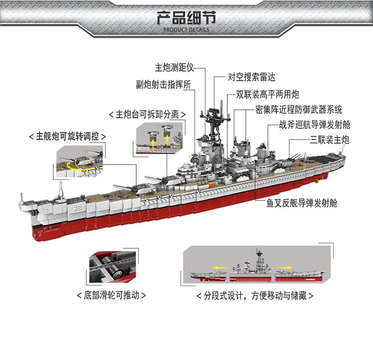 XINGBAO XB-06030 Warship The Missouri Battleship