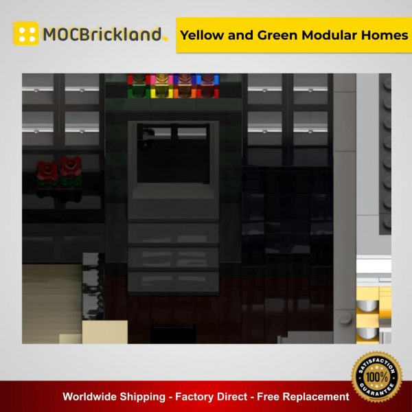 Yellow and Green Modular Homes MOC 42028 Modular Building Designed By Legosam36