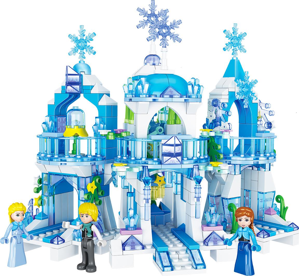 ZheGao QL2217 Frozens Princess Snow Queen Ice CastleModel